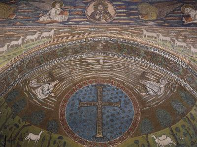 Apsidal Semi-Dome Decorated with Mosaics in the Basilica of St Apollinaris in Classe--Photographic Print
