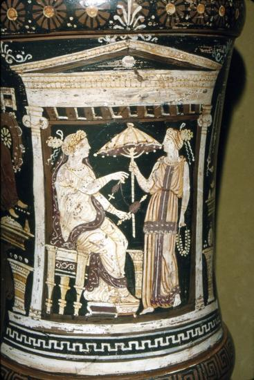 Apulian Vase, Penelope Spinning Wool, c340 BC-Unknown-Giclee Print