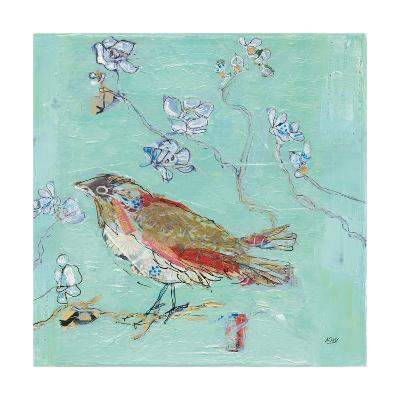 Aqua Bird-Kellie Day-Art Print