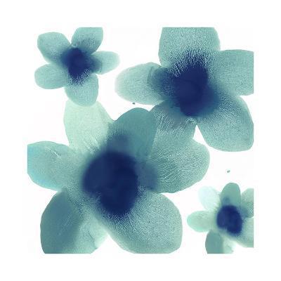 Aqua Blooms II-Hannah Carlson-Giclee Print