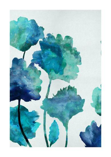 Aqua Blossom Triptych II-Vanessa Austin-Giclee Print