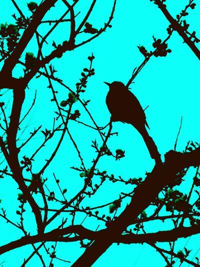 Aqua Branch--Art Print