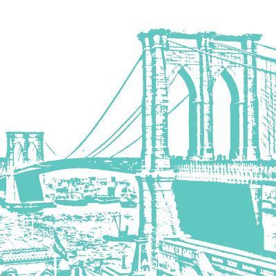Aqua Brooklyn Bridge-Veruca Salt-Art Print