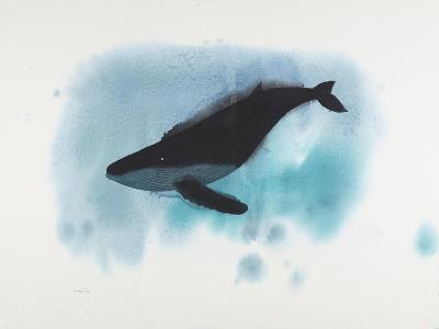 Aqua Deep Whale-Claus Hoie-Giclee Print