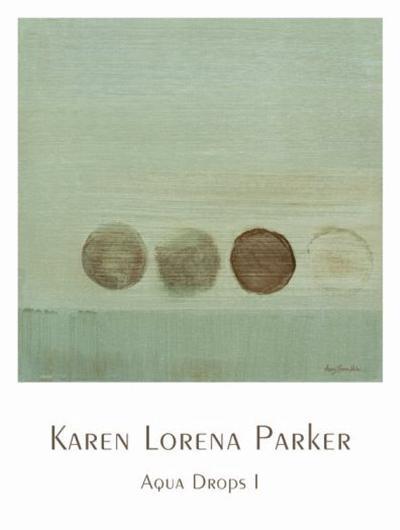 Aqua Drops I-Karen Lorena Parker-Art Print