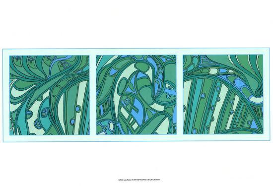 Aqua Fission I-Tina Kafantaris-Art Print