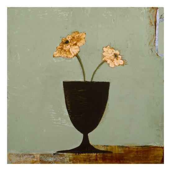 Aqua Floral II-Charlotte Foust-Premium Giclee Print