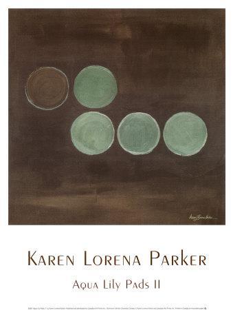 Aqua Lily Pads II-Karen Lorena Parker-Art Print