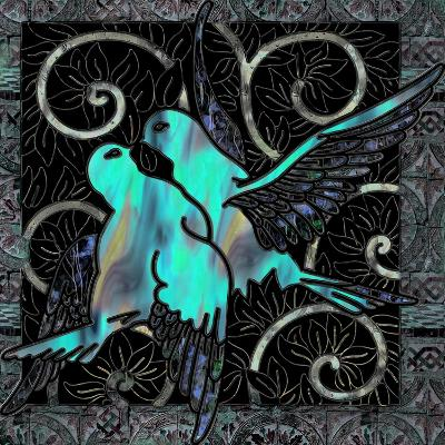 Aqua Lovebirds-Mindy Sommers-Giclee Print