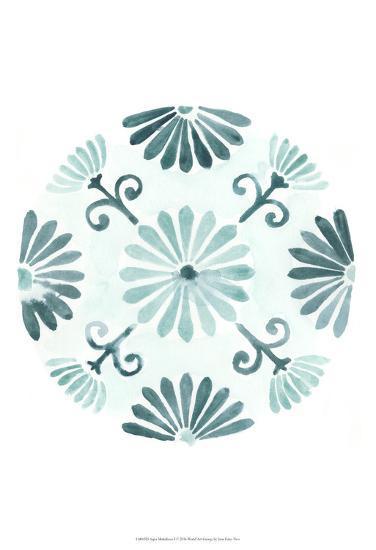 Aqua Medallions I-June Erica Vess-Art Print