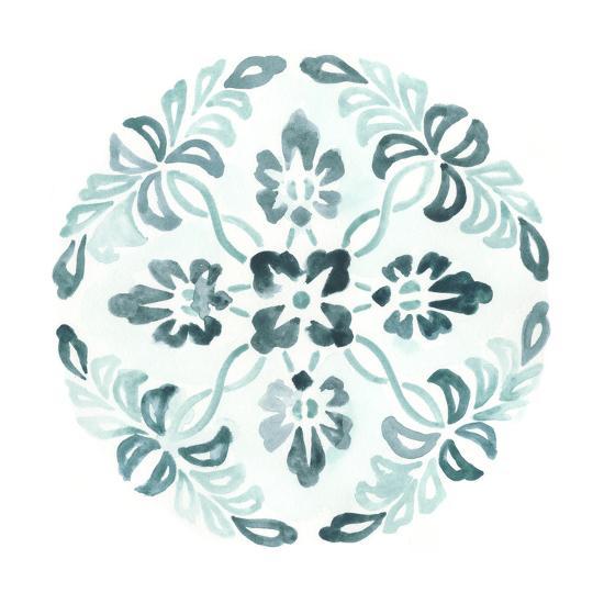 Aqua Medallions II-June Vess-Art Print
