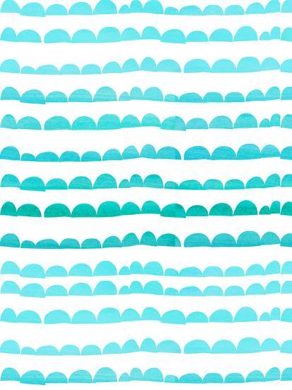 Aqua Pattern-Grab My Art-Art Print