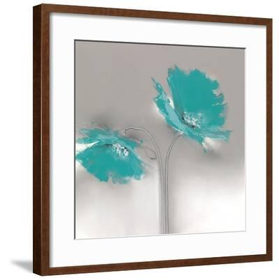 Aqua Platinum Petals II-J^P^ Prior-Framed Art Print