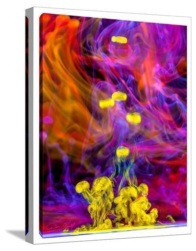 Aqua Signals-Don Farrall-Stretched Canvas Print