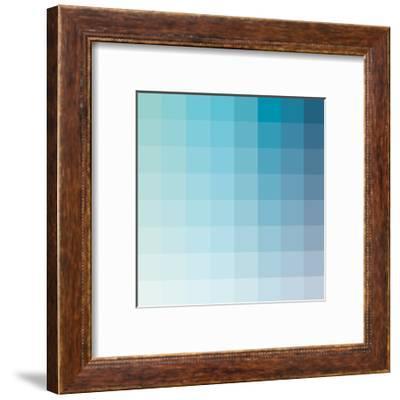 Aqua Square Spectrum-Kindred Sol Collective-Framed Premium Giclee Print