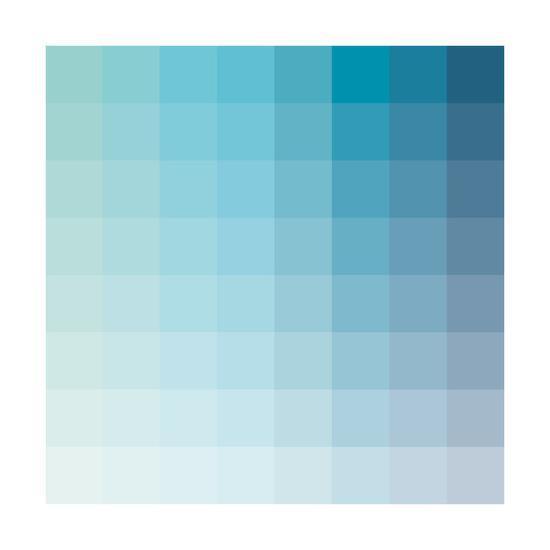 Aqua Square Spectrum-Kindred Sol Collective-Art Print