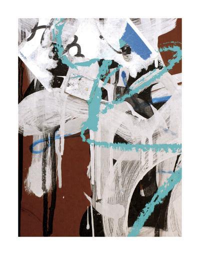 Aqua Tag 2-Jenny Kraft-Art Print