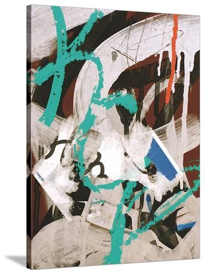Aqua Tag 3-Jenny Kraft-Stretched Canvas Print