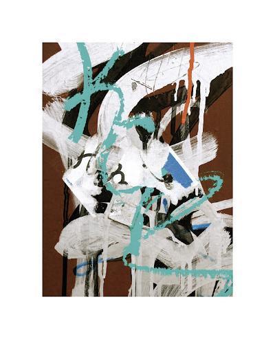 Aqua Tag I-Jenny Kraft-Giclee Print