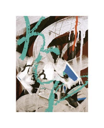 Aqua Tag III-Jenny Kraft-Giclee Print