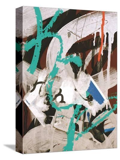 Aqua Tag III-Jenny Kraft-Stretched Canvas Print