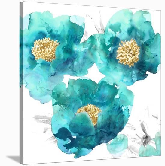 Aqua Trio II-Vanessa Austin-Stretched Canvas Print