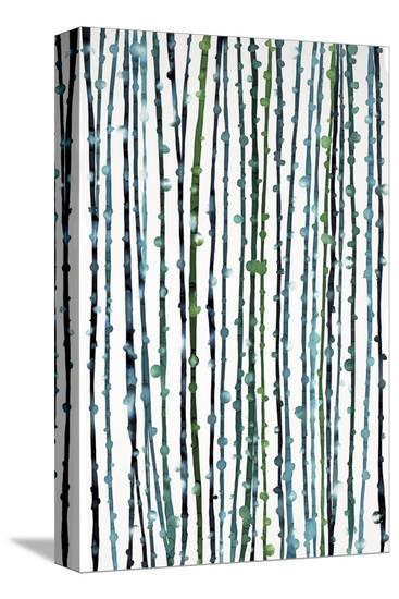 Aqua Vine-Candice Alford-Stretched Canvas Print