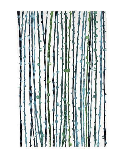 Aqua Vine-Candice Alford-Art Print