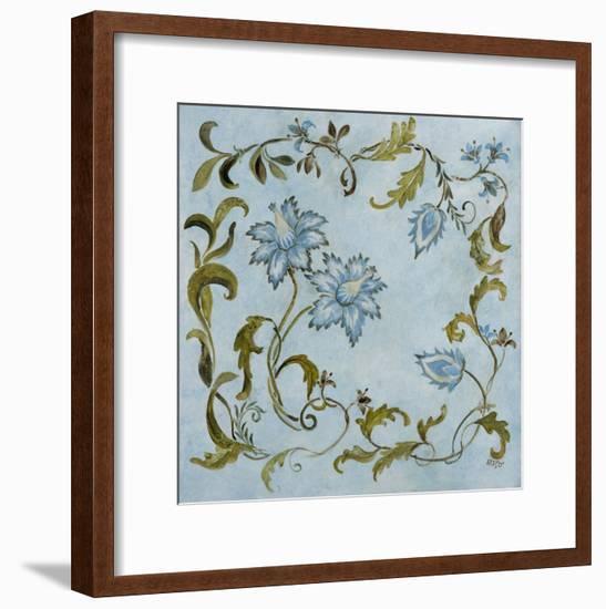 Aqua Vines-Susan Jeschke-Framed Premium Giclee Print