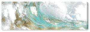 Aqua Wave Canvas Art