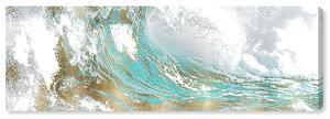 Aqua Wave Canvas Art