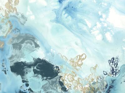 Aqua Wave Form II-June Vess-Art Print
