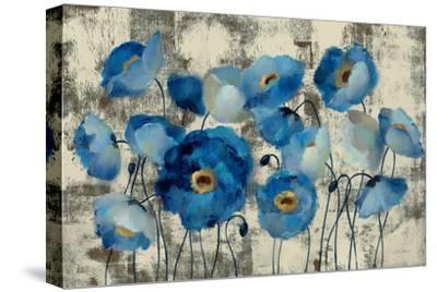 Aquamarine Floral-Silvia Vassileva-Stretched Canvas Print