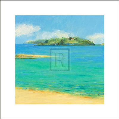 Aquamarine II-Hazel Barker-Art Print
