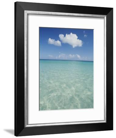 Aquamarine Water Bleeds into Blue Skies in This Tropical View-Michael Melford-Framed Photographic Print
