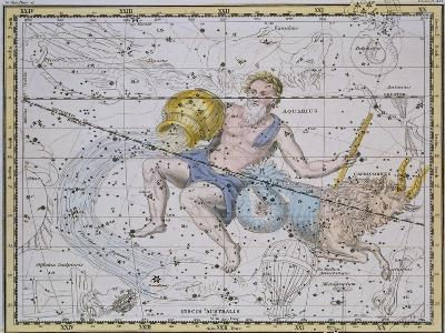 """Aquarius and Capricorn, from """"A Celestial Atlas,"""" Published in 1822-A^ Jamieson-Giclee Print"""