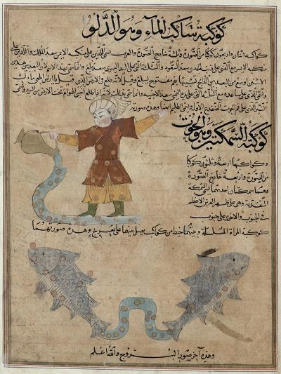 Aquarius and Pisces, the Wonders of the Creation and the Curiosities of Existence by Al-Qazwini--Giclee Print