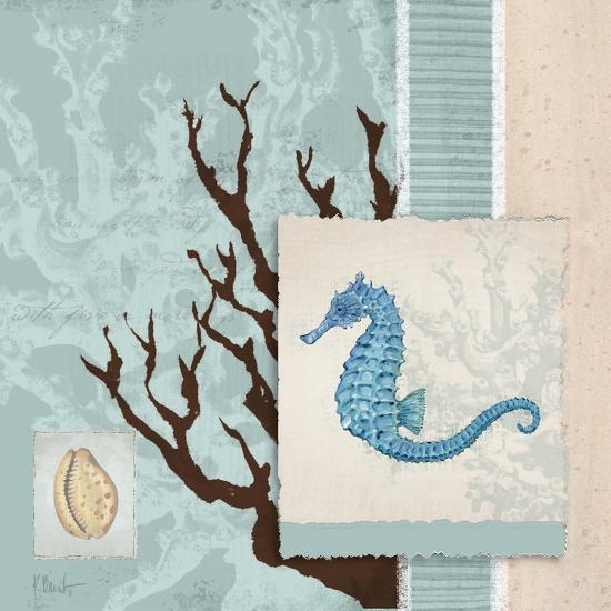 Aquarius Blue Sq II-Paul Brent-Art Print