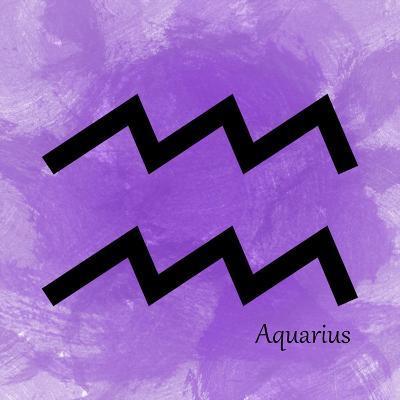 Aquarius - Violet-Veruca Salt-Art Print