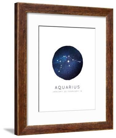 Aquarius Zodiac Constellation-Kindred Sol Collective-Framed Art Print
