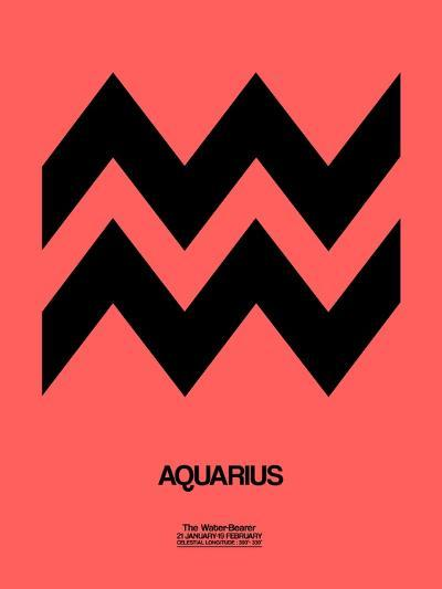 Aquarius Zodiac Sign Black-NaxArt-Art Print