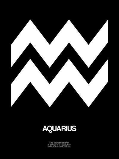 Aquarius Zodiac Sign White-NaxArt-Art Print