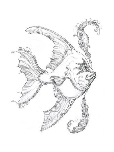 Aquatic Fish 1 Pencil-Jeff Haynie-Giclee Print