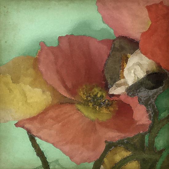 Aquatic Poppies I-Jennifer Goldberger-Art Print