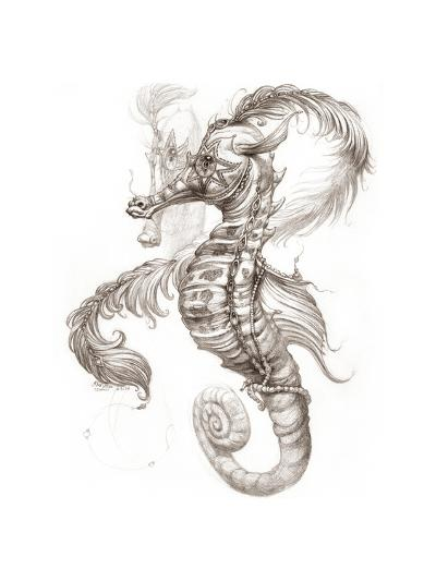 Aquatic Seahorse Pencil-Jeff Haynie-Giclee Print