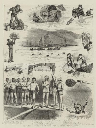 Aquatic Sports by British Bluejackets, Hong Kong--Giclee Print