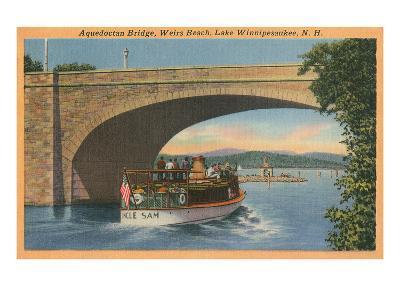 Aquedocton Bridge, Lake Winnipesaukee, New Hampshire--Art Print