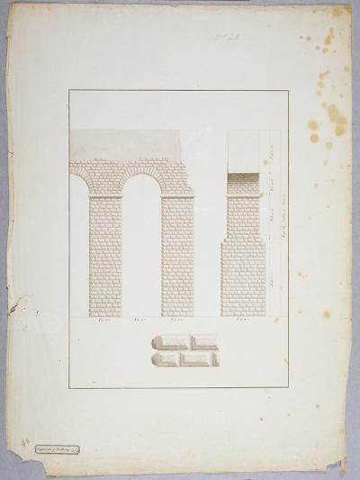 Aqueduct at Carthage (Pen and Ink with Wash on Paper)-James Bruce-Giclee Print
