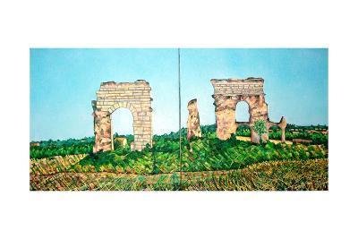 Aqueduct Park View-Noel Paine-Giclee Print