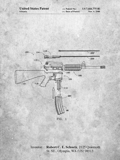 AR 15 Patent-Cole Borders-Art Print